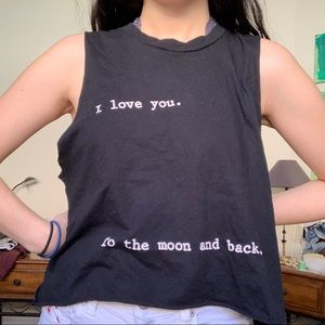 I love you to the moon and back muscle tee